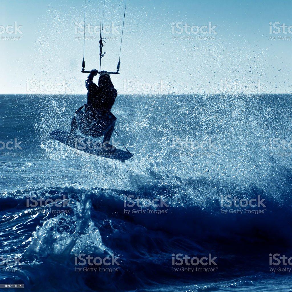 Kite boarder stock photo