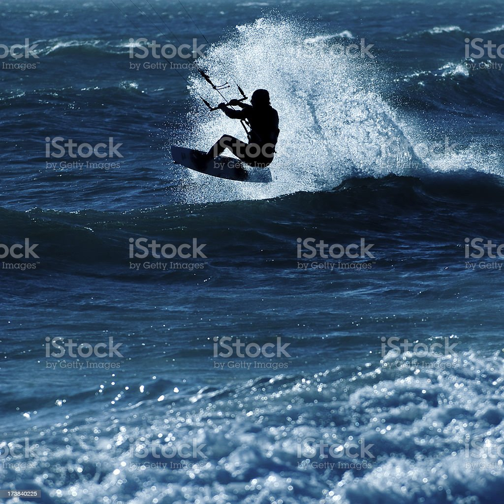 Kite boarder royalty-free stock photo