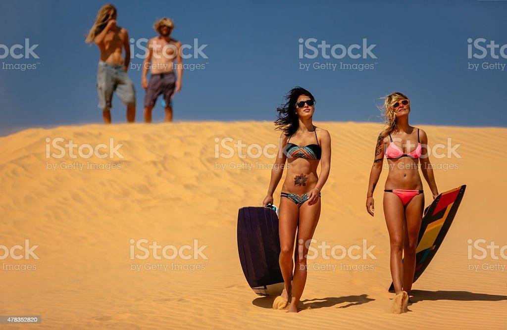 Kite boarding. stock photo