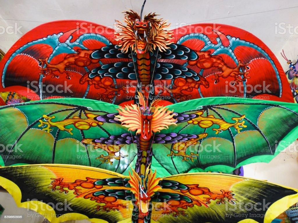 Kite dragons stock photo
