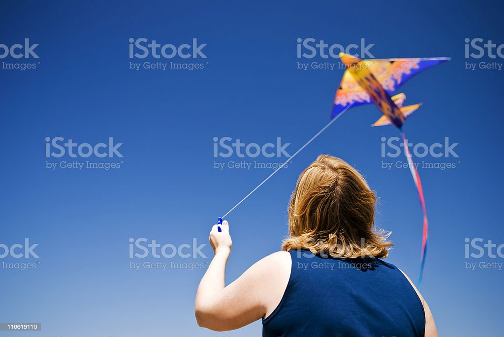 Kite-Flyer Lizenzfreies stock-foto