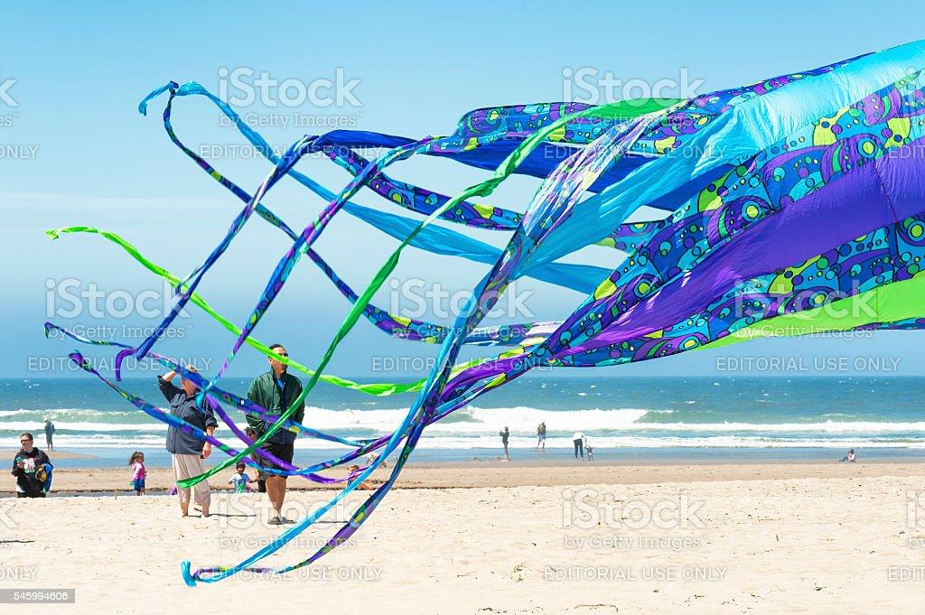 Kite Flying Festival Lincoln City Oregon stock photo