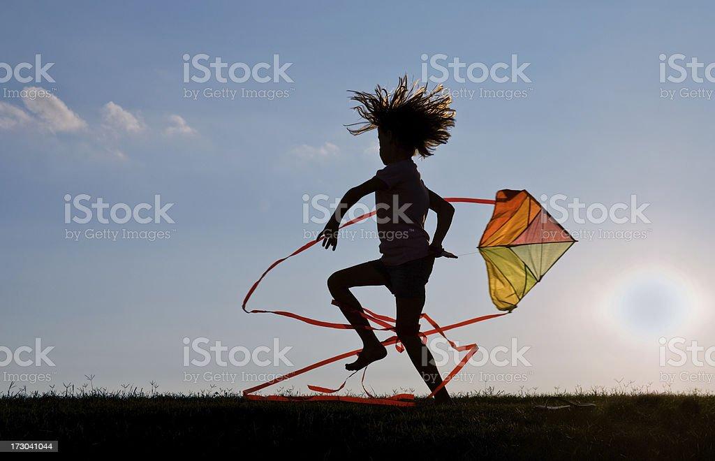 Kite Mädchen Lizenzfreies stock-foto