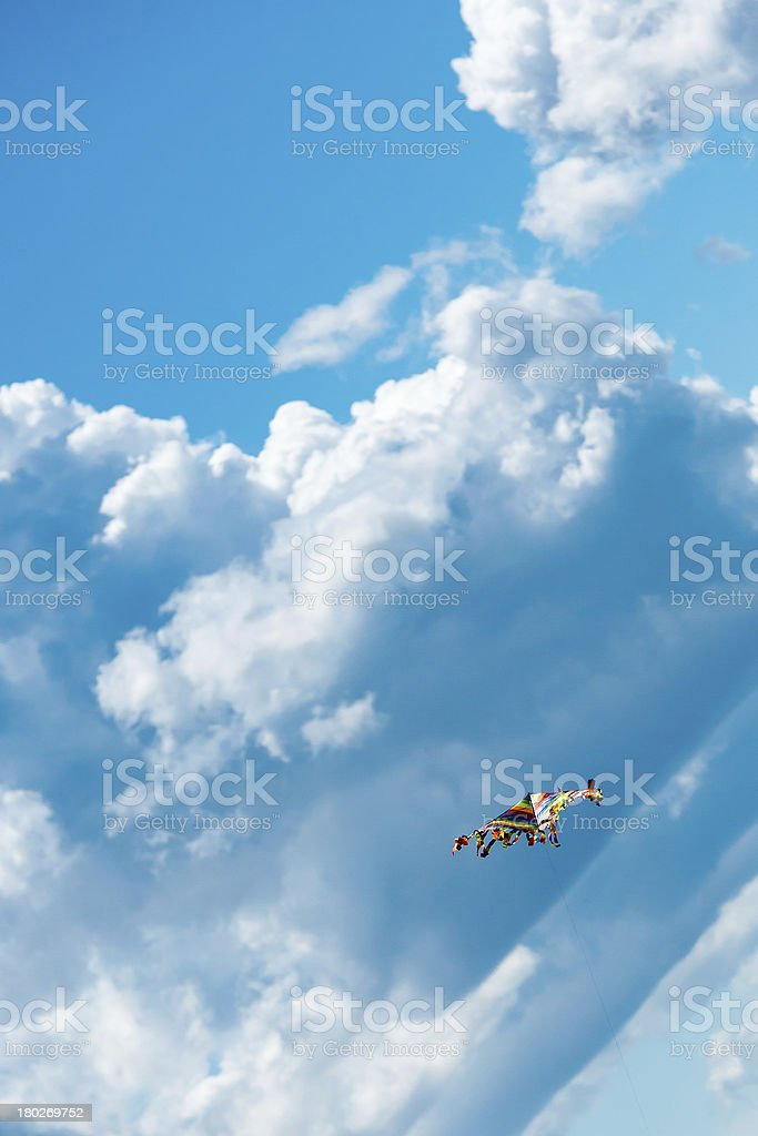Kite in the blue sky royalty-free stock photo