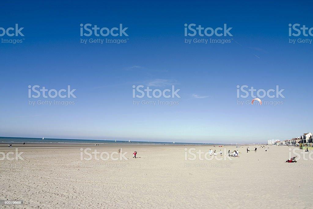 Kite on the Beach stock photo