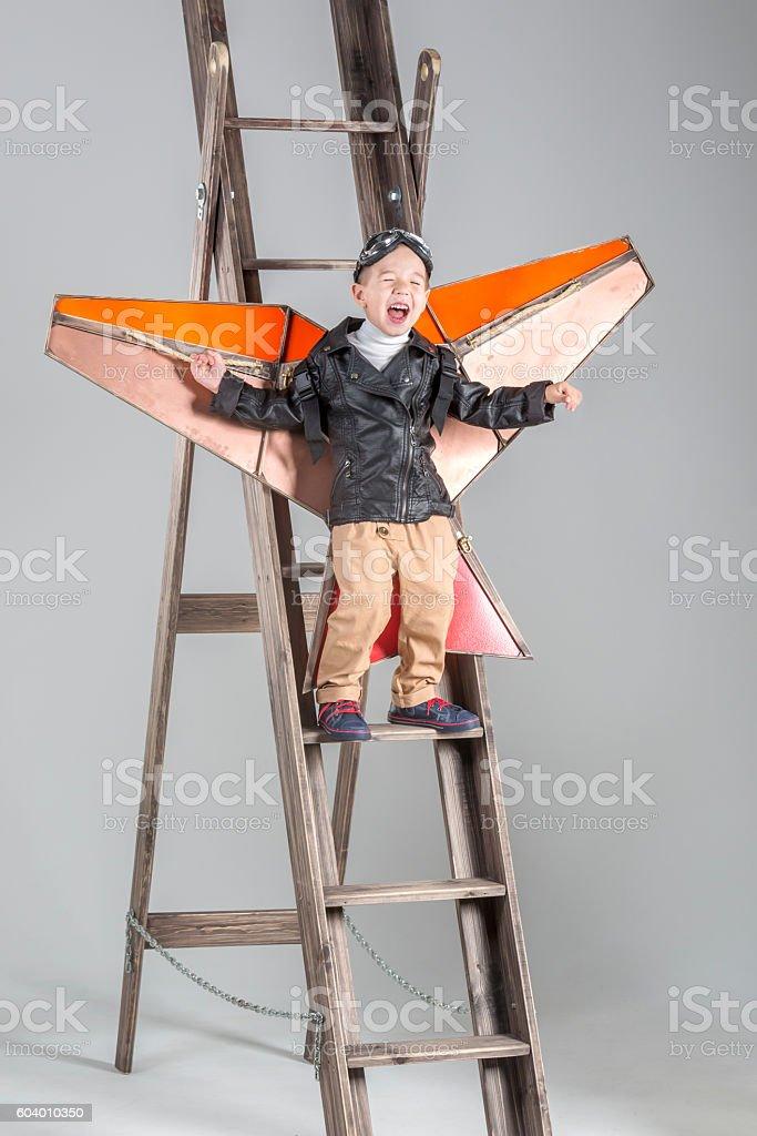 Kite Play stock photo
