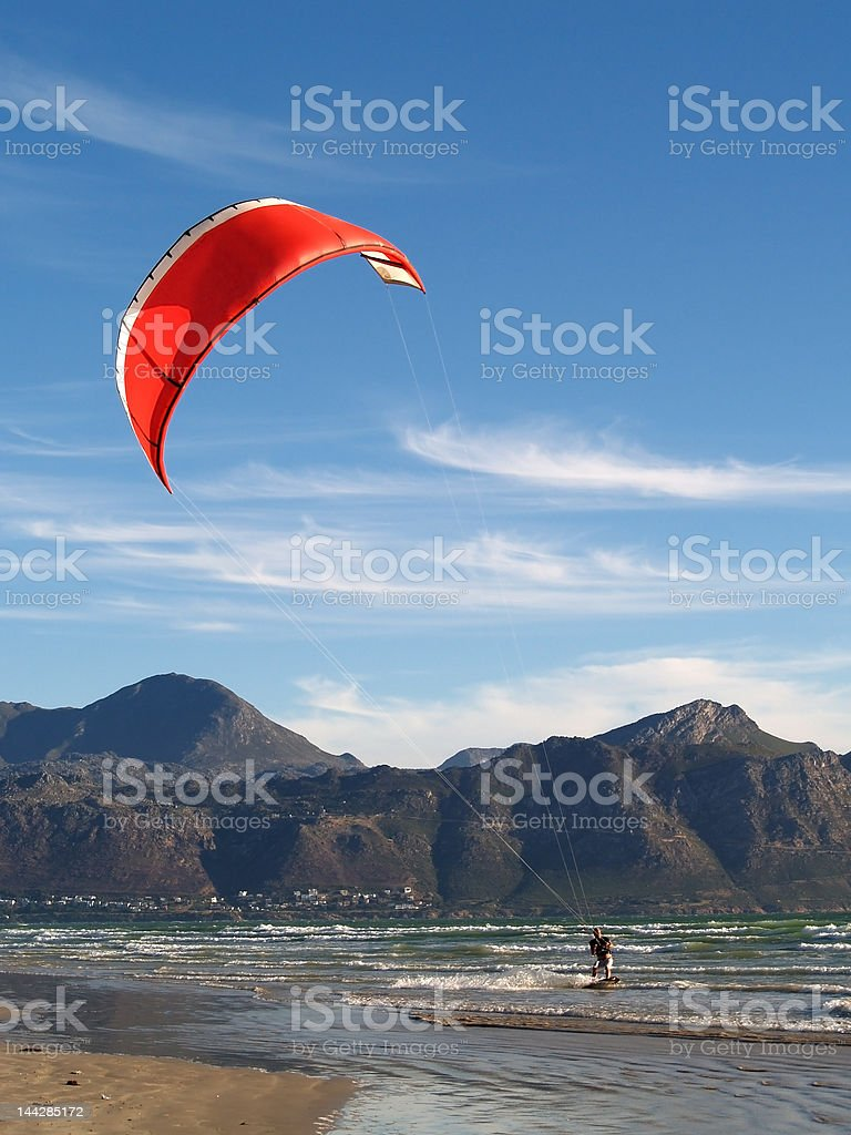 Kite surfer royalty-free stock photo