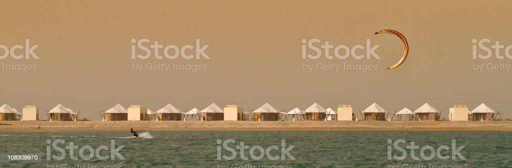 Kite surfing in UAE stock photo