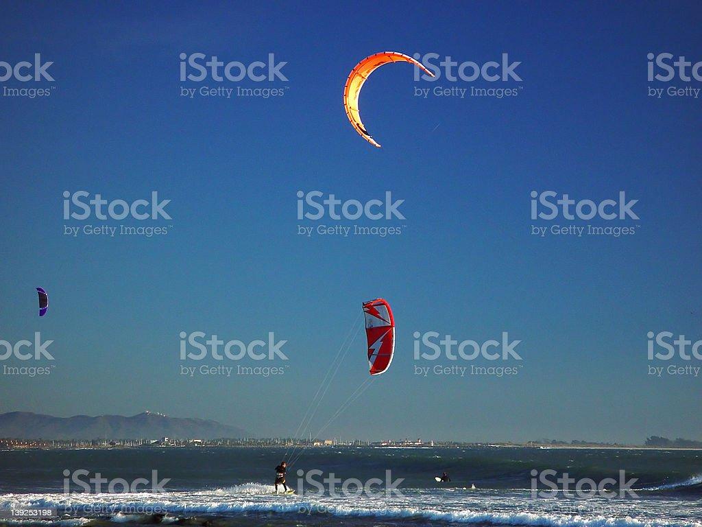 Kite Surfing Ventura royalty-free stock photo
