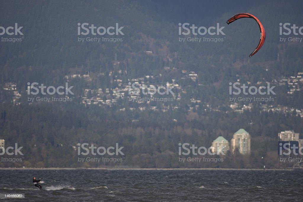 Kiteboarder foto royalty-free