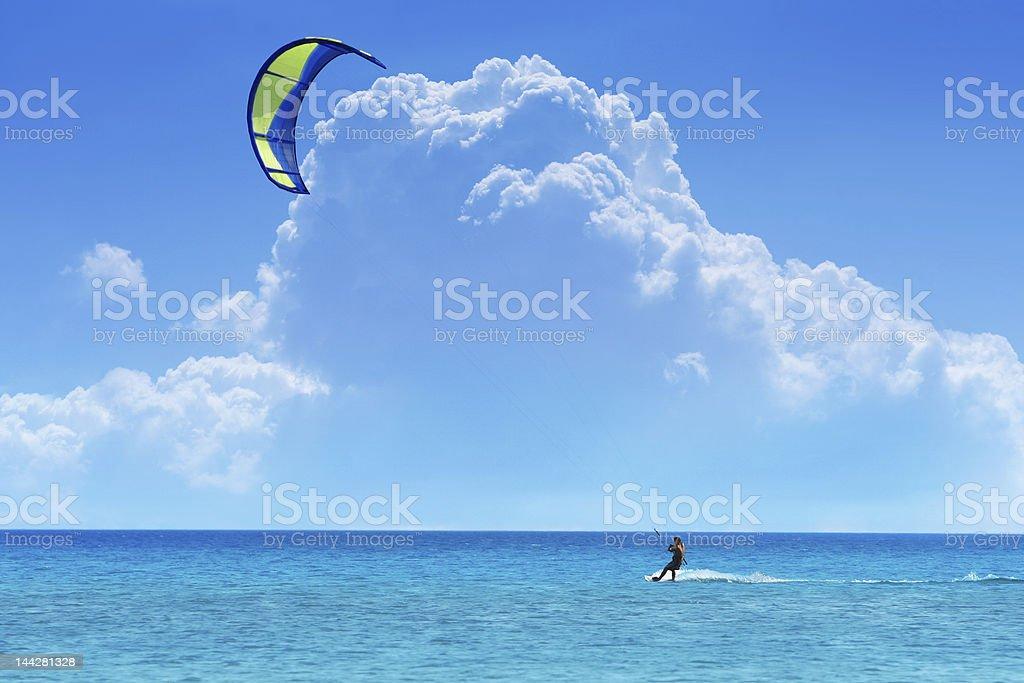 Kiteboarder stock photo