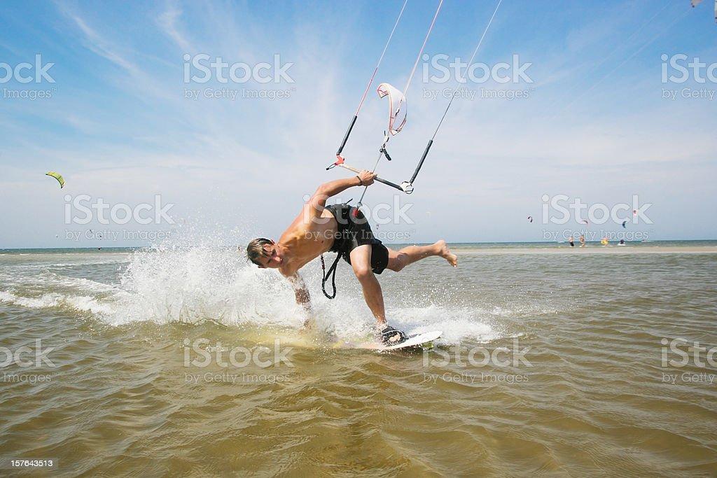 Kiteboarder royalty-free stock photo