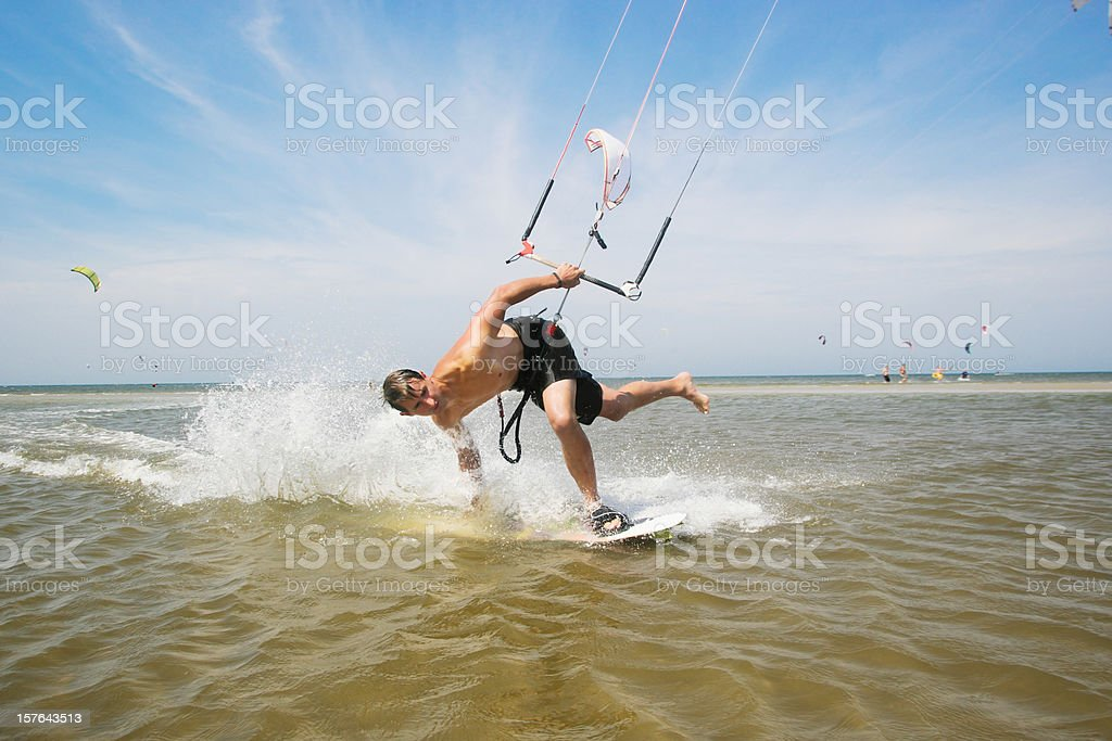 Kiteboarder stock photo