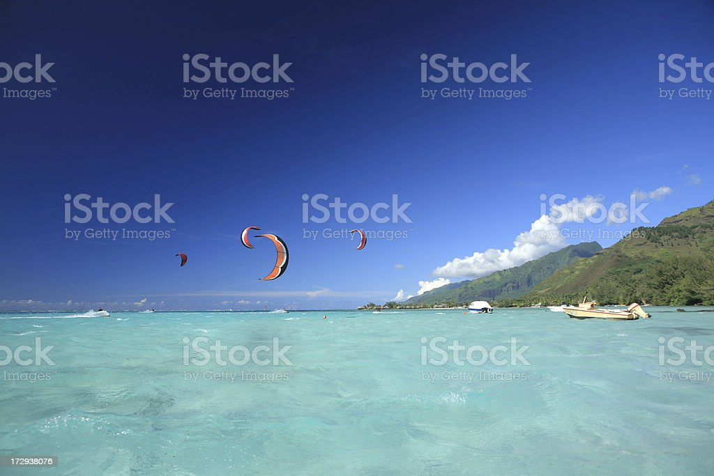 kiteboarders royalty-free stock photo