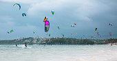 Kiteboarding on the Boracay
