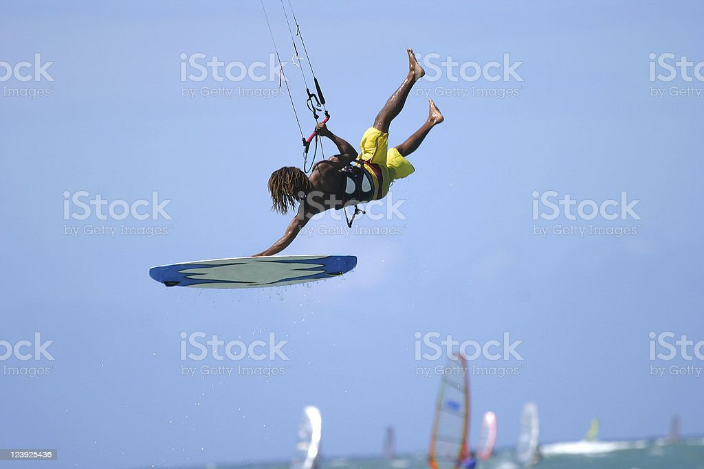 Kiteboarding stock photo