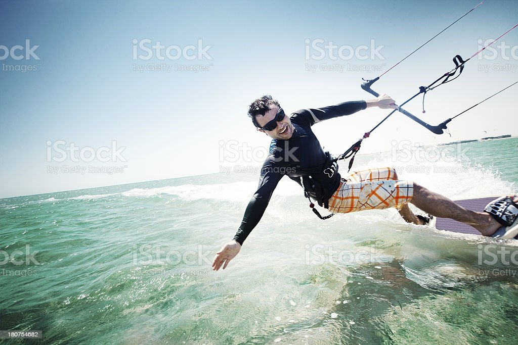 Kiteboarding royalty-free stock photo