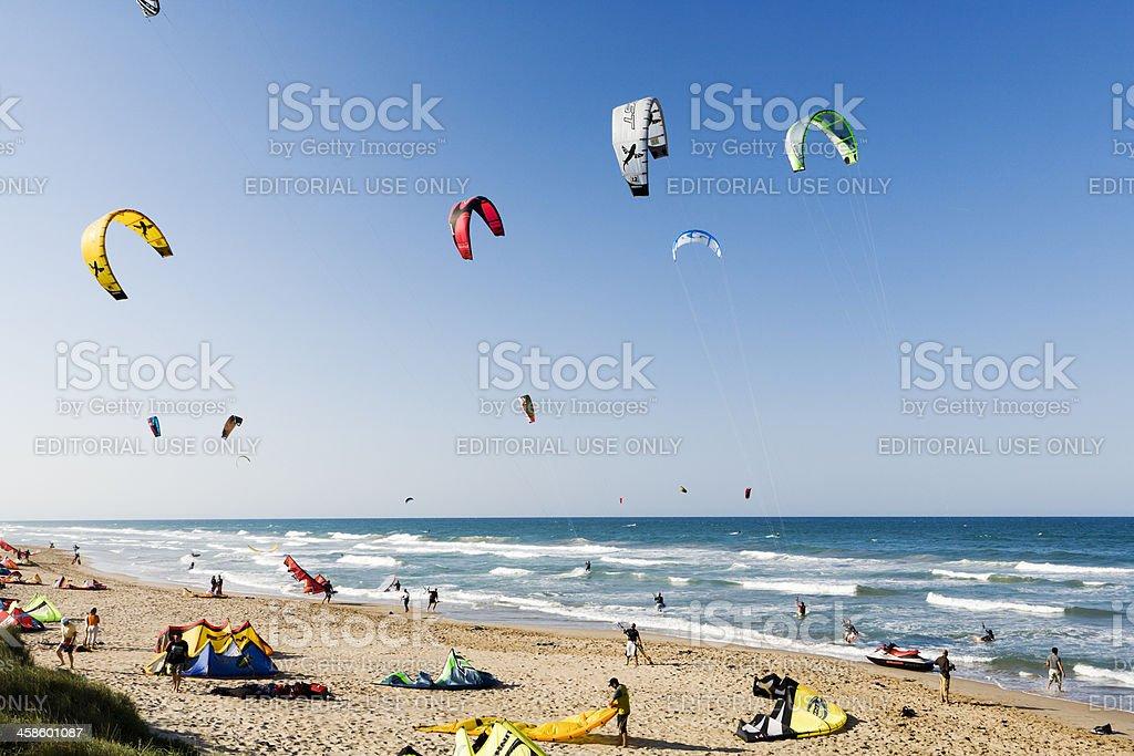 kiteboarding stock photo
