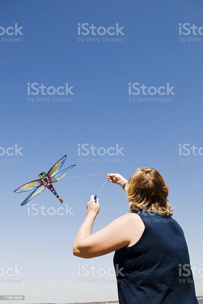 Kiteflying Lizenzfreies stock-foto