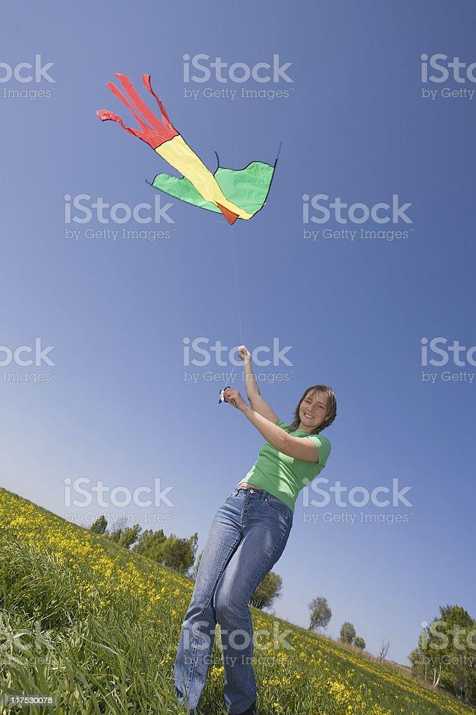 kiteflying royalty-free stock photo