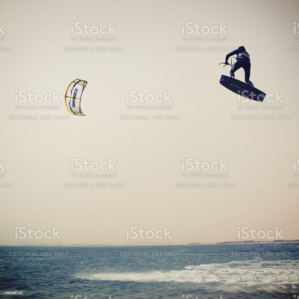 Kiteloop in Soma Bay, Egypt stock photo