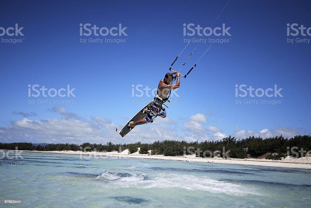 Kiter in Madagascar wind stock photo