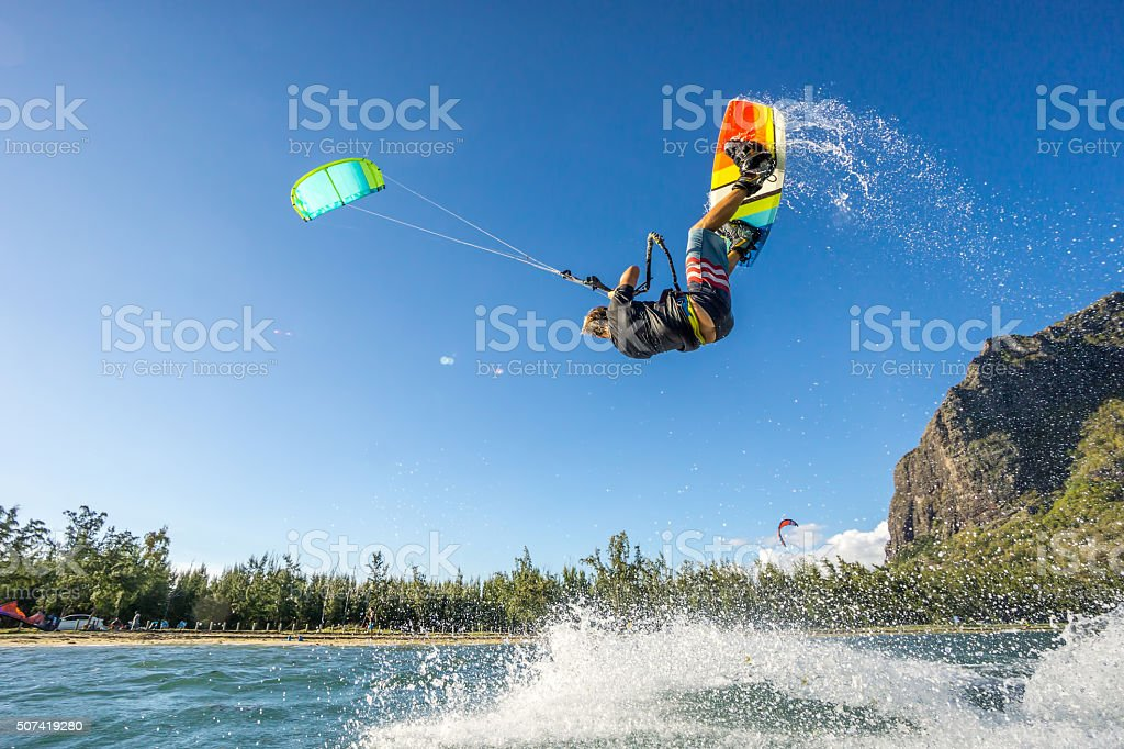 kiter's  trick stock photo