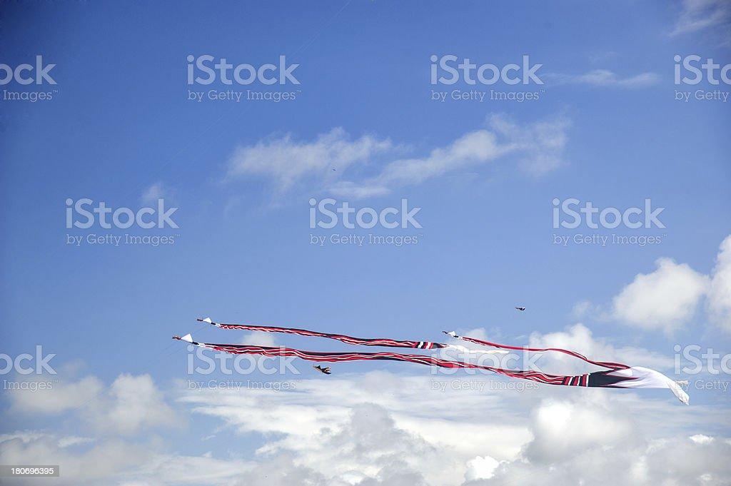 Kites in blue Sky stock photo