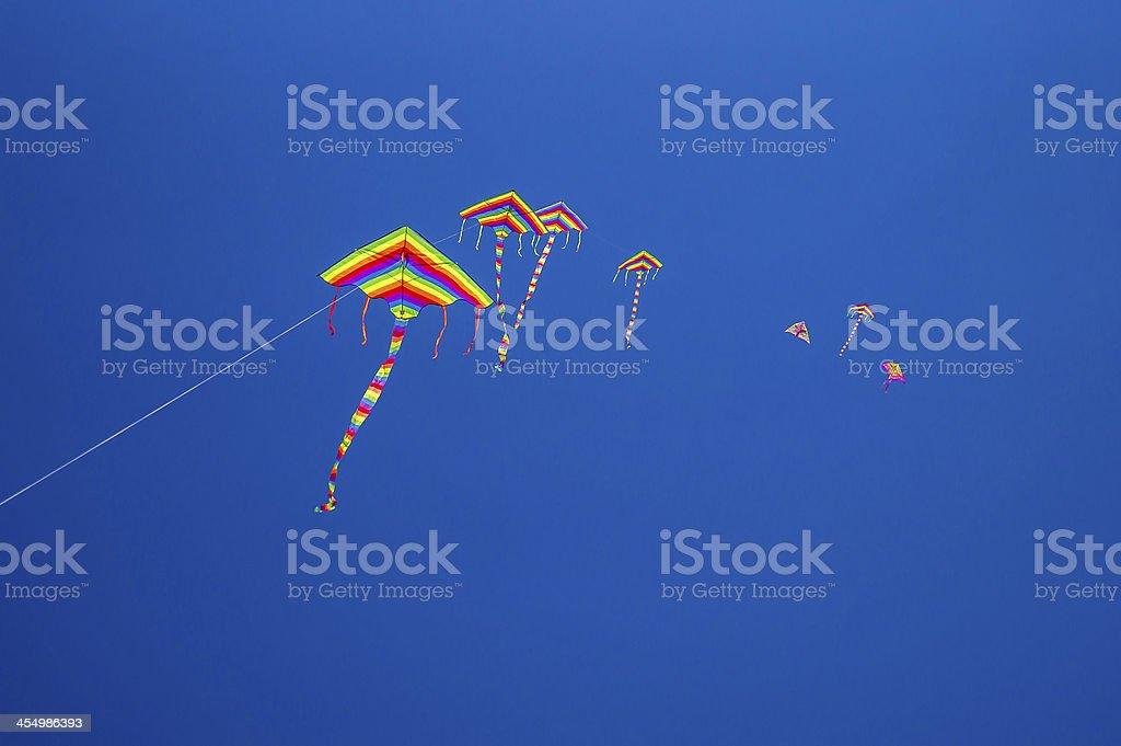 Kites in the sky royalty-free stock photo