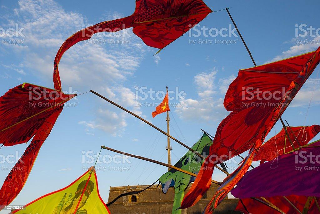 Kites in Vietnam stock photo