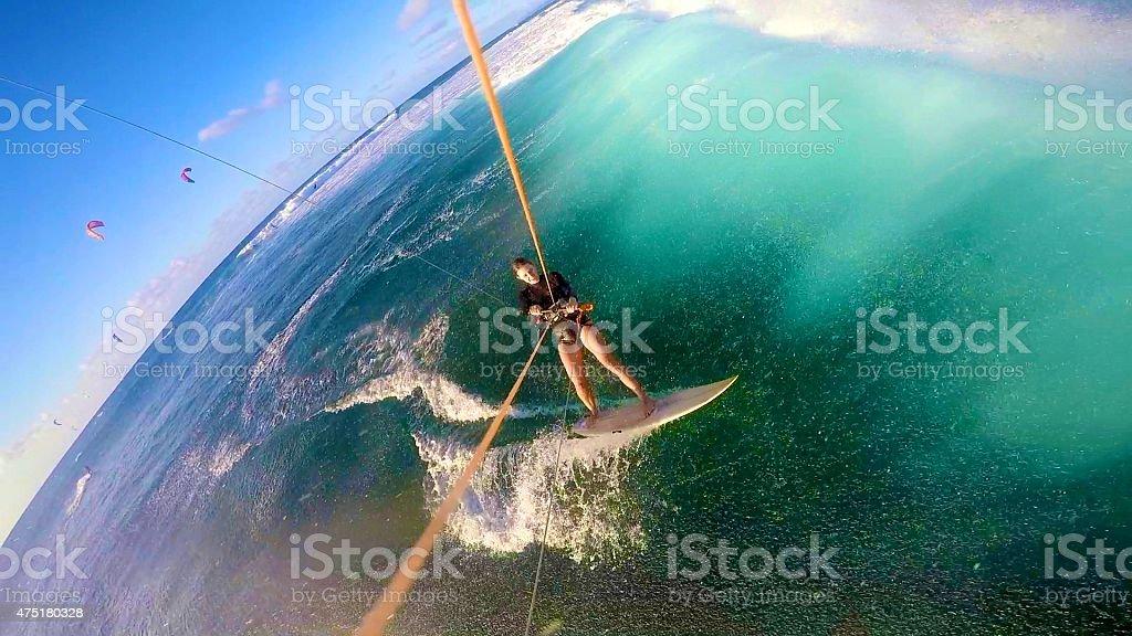 Kitesurfing Dream stock photo