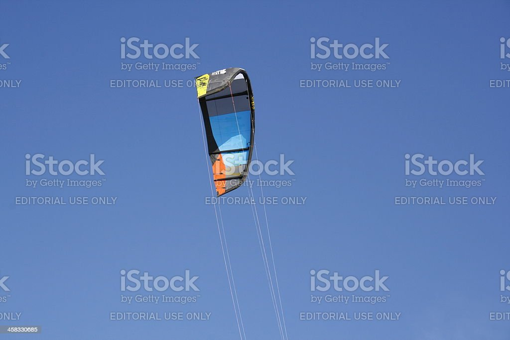 Kitesurf kite stock photo