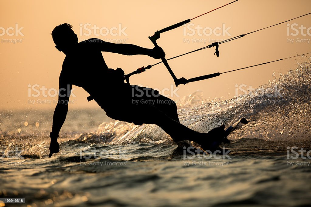 Kitesurfing stock photo