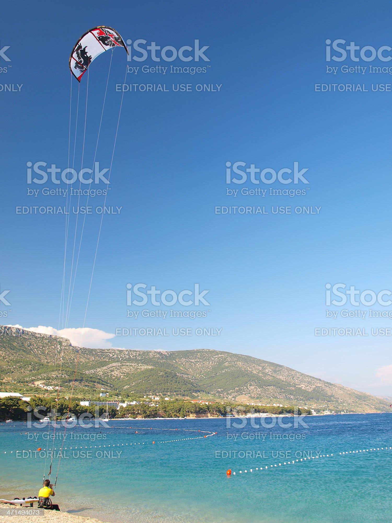 Kitesurfing royalty-free stock photo