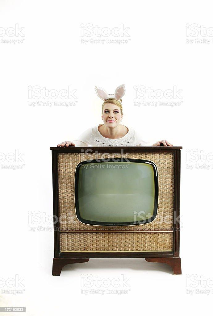 Kitsch series : Rabbit Ears royalty-free stock photo