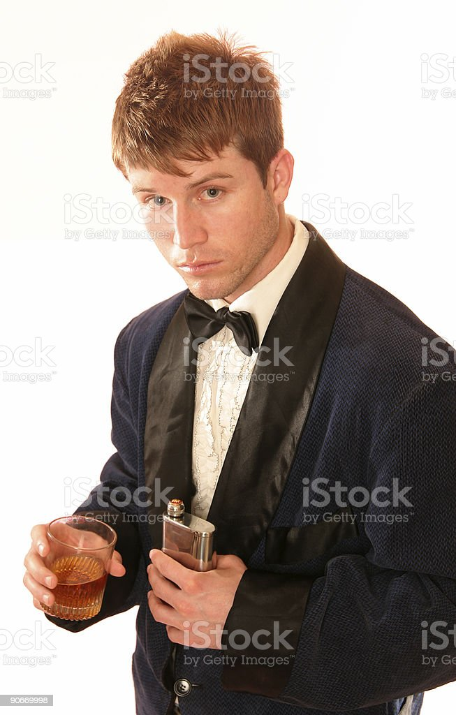 Kitschy flasking. royalty-free stock photo