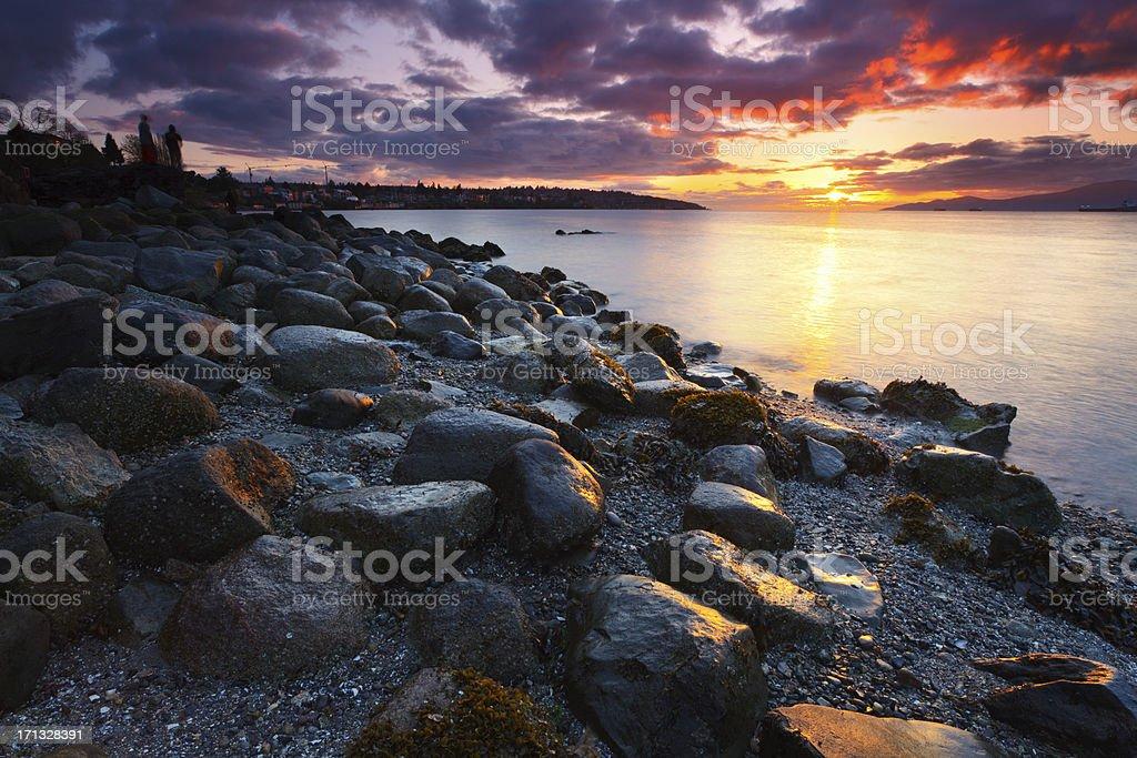 Kitsilano Sunset stock photo