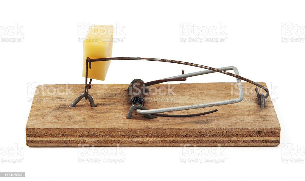 Kitted mousetrap royalty-free stock photo