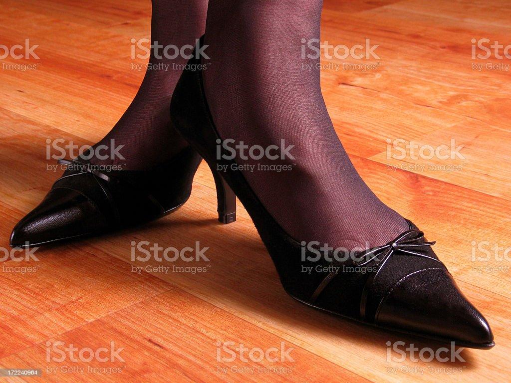 kitten heels - the way to elegance stock photo
