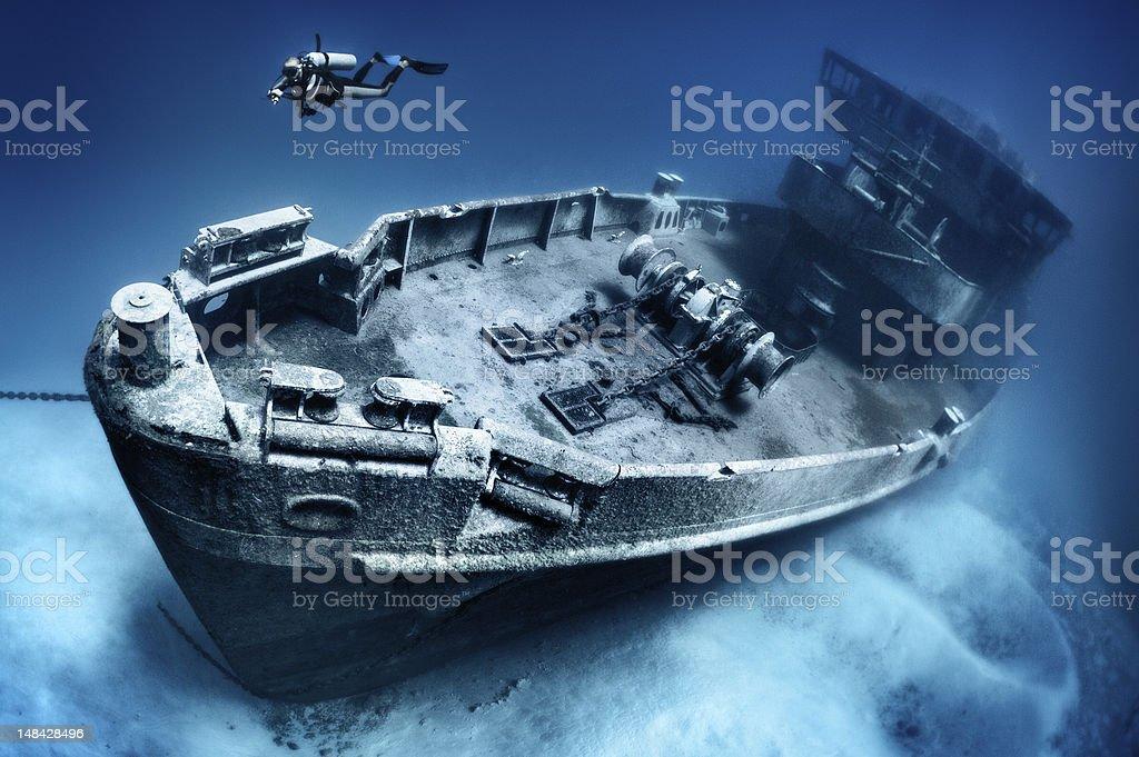 Kittiwake shipwreck ASR-13 stock photo