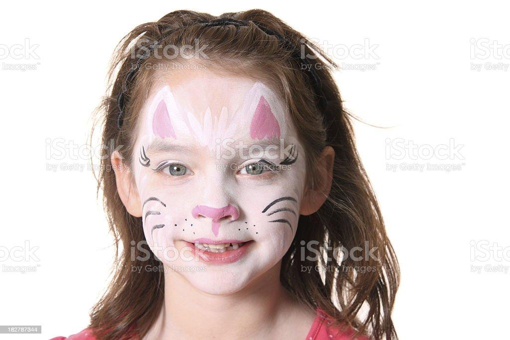 Kitty Face Paint royalty-free stock photo