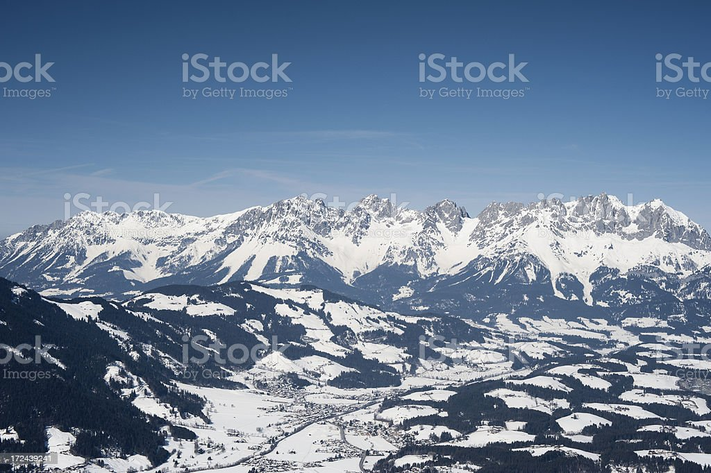 Kitzbühel Alps mountain range Wilder Kaiser stock photo