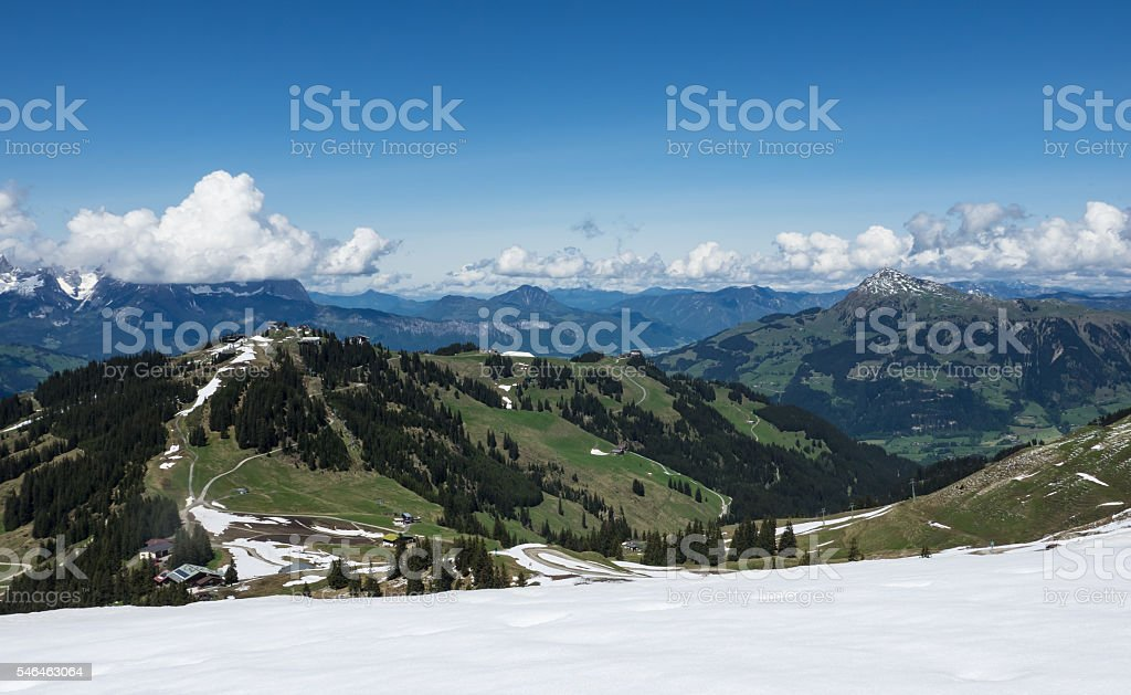 Kitzbühel mountains stock photo