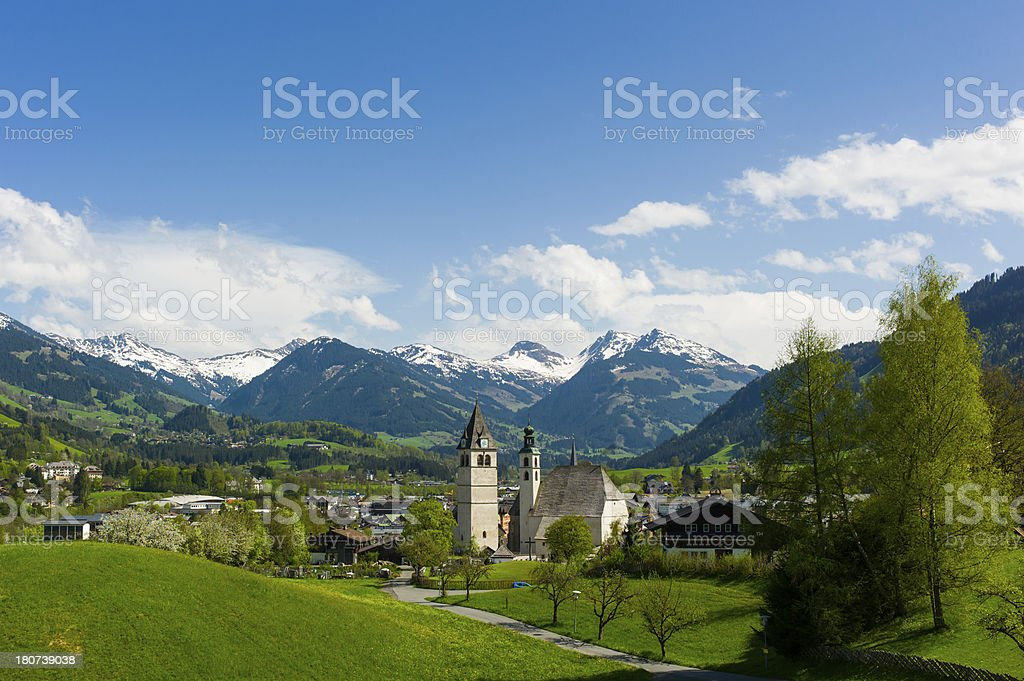Kitzbühel Townscape Kitzbuehel stock photo
