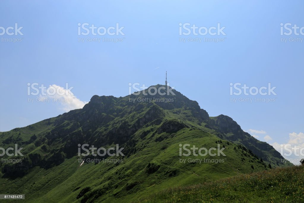Kitzbüheler Horn, famous mountain in Tirol, Austria stock photo