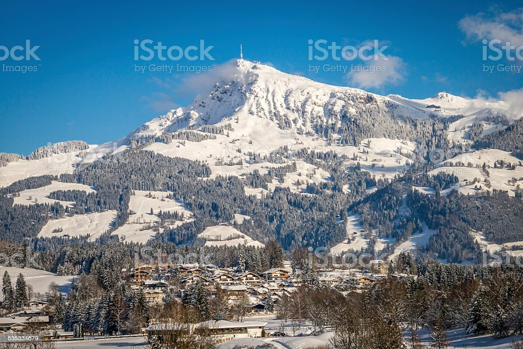 Kitzb?heler Horn in Austria stock photo