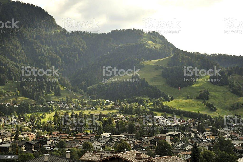 Kitzbuehel in Austria stock photo