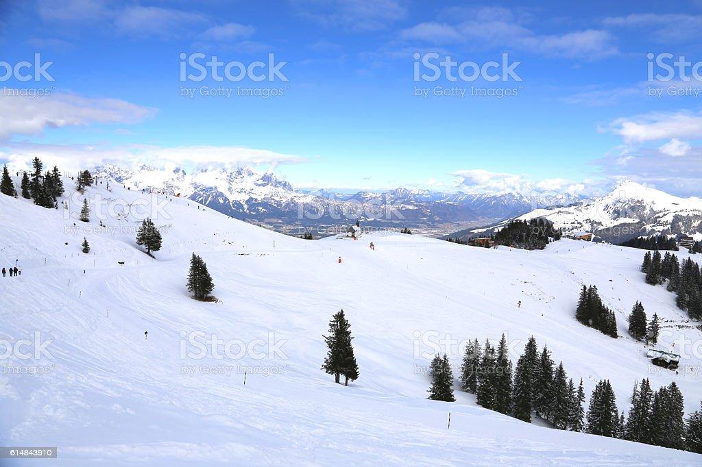 Kitzbuehler alps in tirol stock photo
