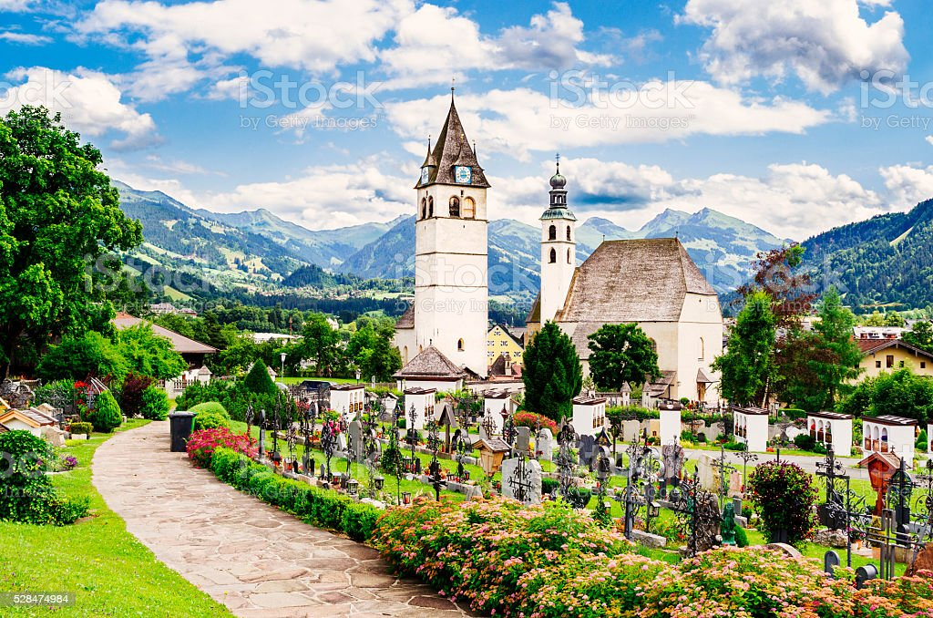 Kitzbuhel, Austria, Church of our Lady stock photo