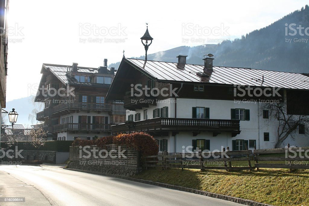 Kitzbuhel, Austria, Houses stock photo